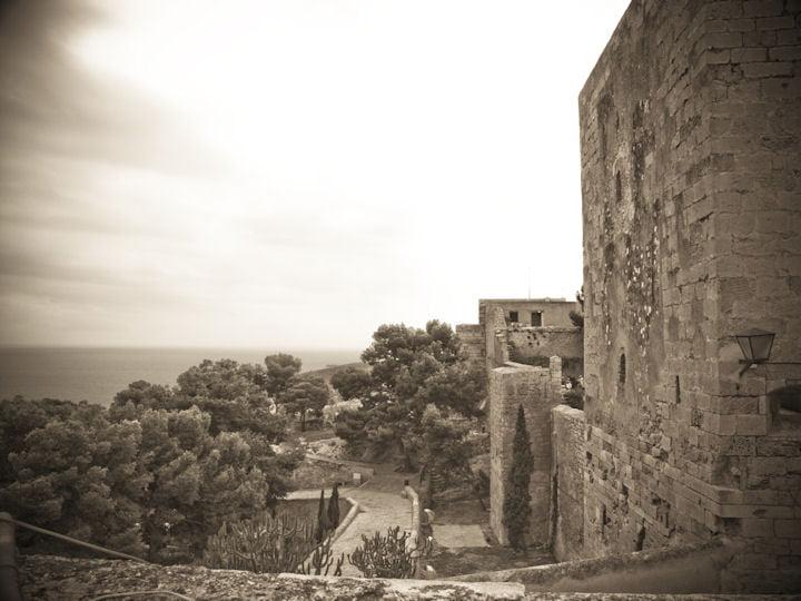 Foto antigua del Castillo de Santa Bárbara