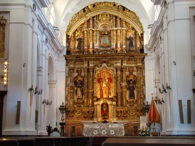 Foto detalle Altar Mayor Iglesia del Pilar en Buenos Aires