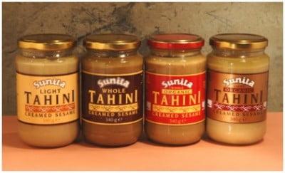 Frascos de Tahini