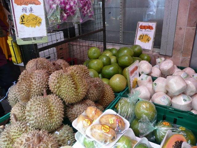 Frutas exóticas en Londres