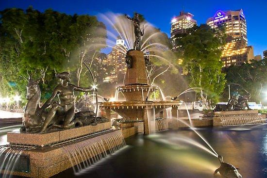 Fuente de agua en Hyde Park