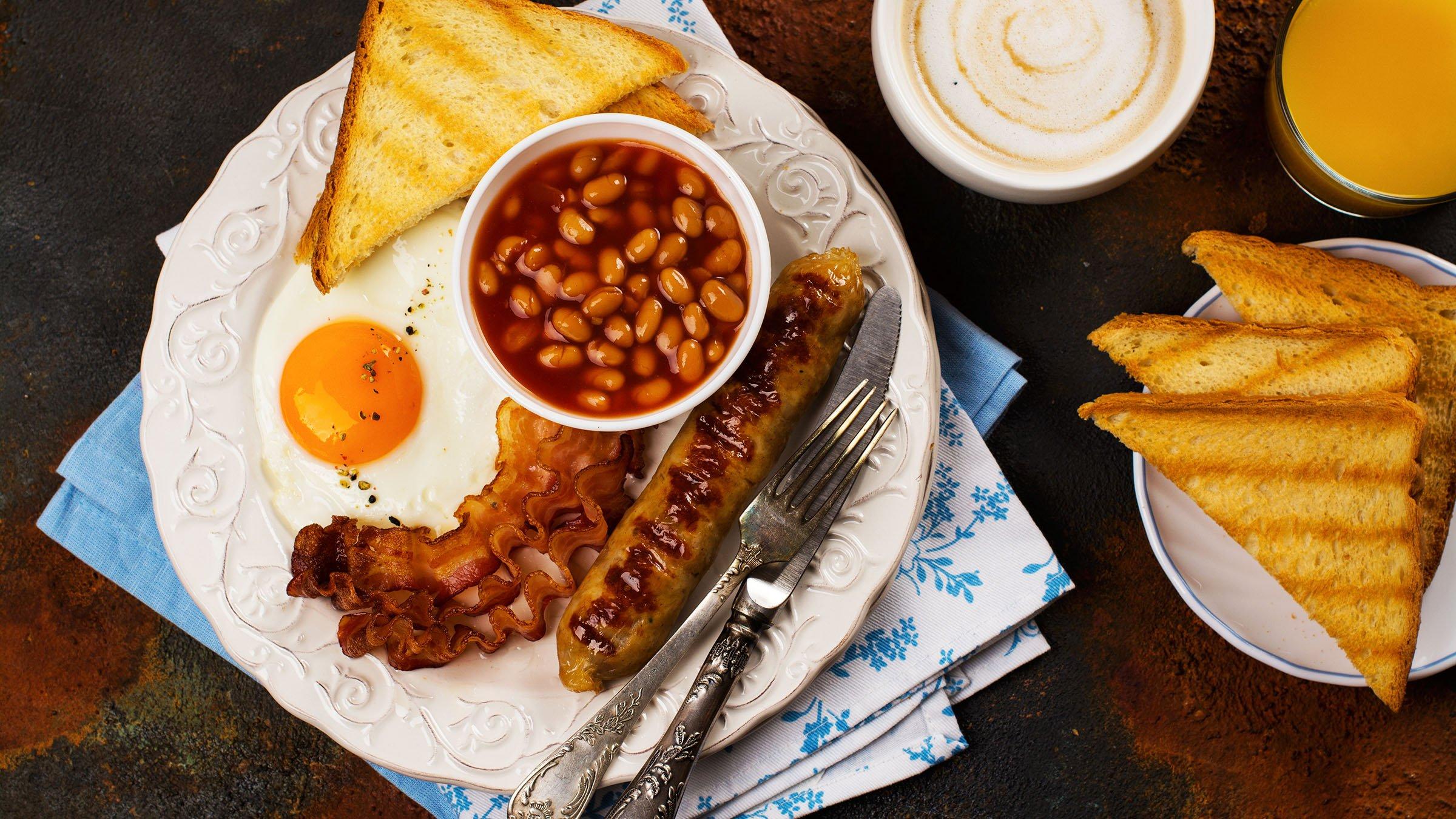 Gastronomía inglesa desayuno inglés