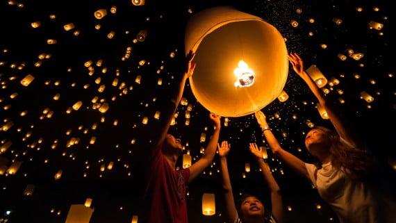 中國和台灣的薄紙氣球