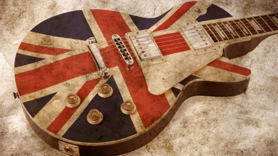 Guitarra típica del brit-pop