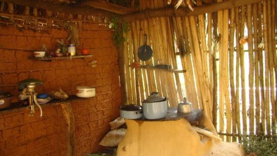 Granxa típica dunha familia da tribo Pech, en Honduras