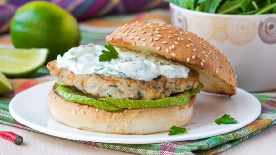 Greek style burger