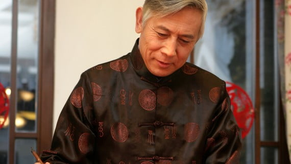 Hanfu traje tradicional de hombre en China