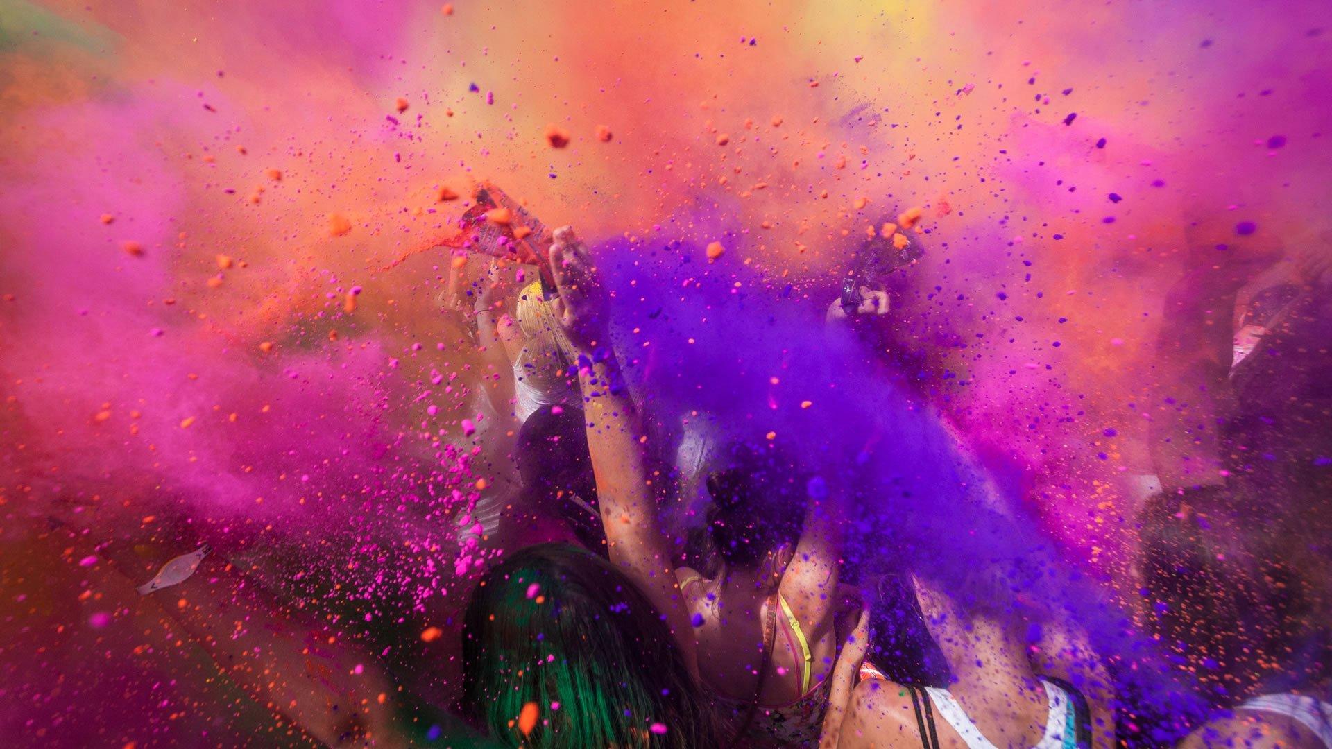 Holi festival o Joli