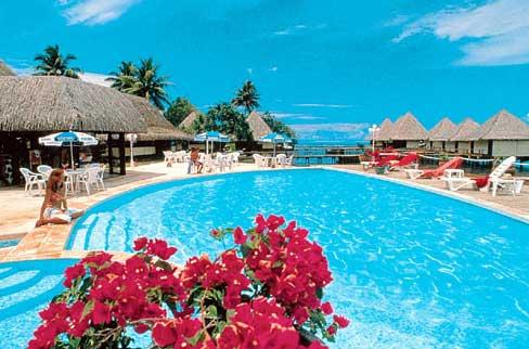 Hotel con piscina en Polinesia