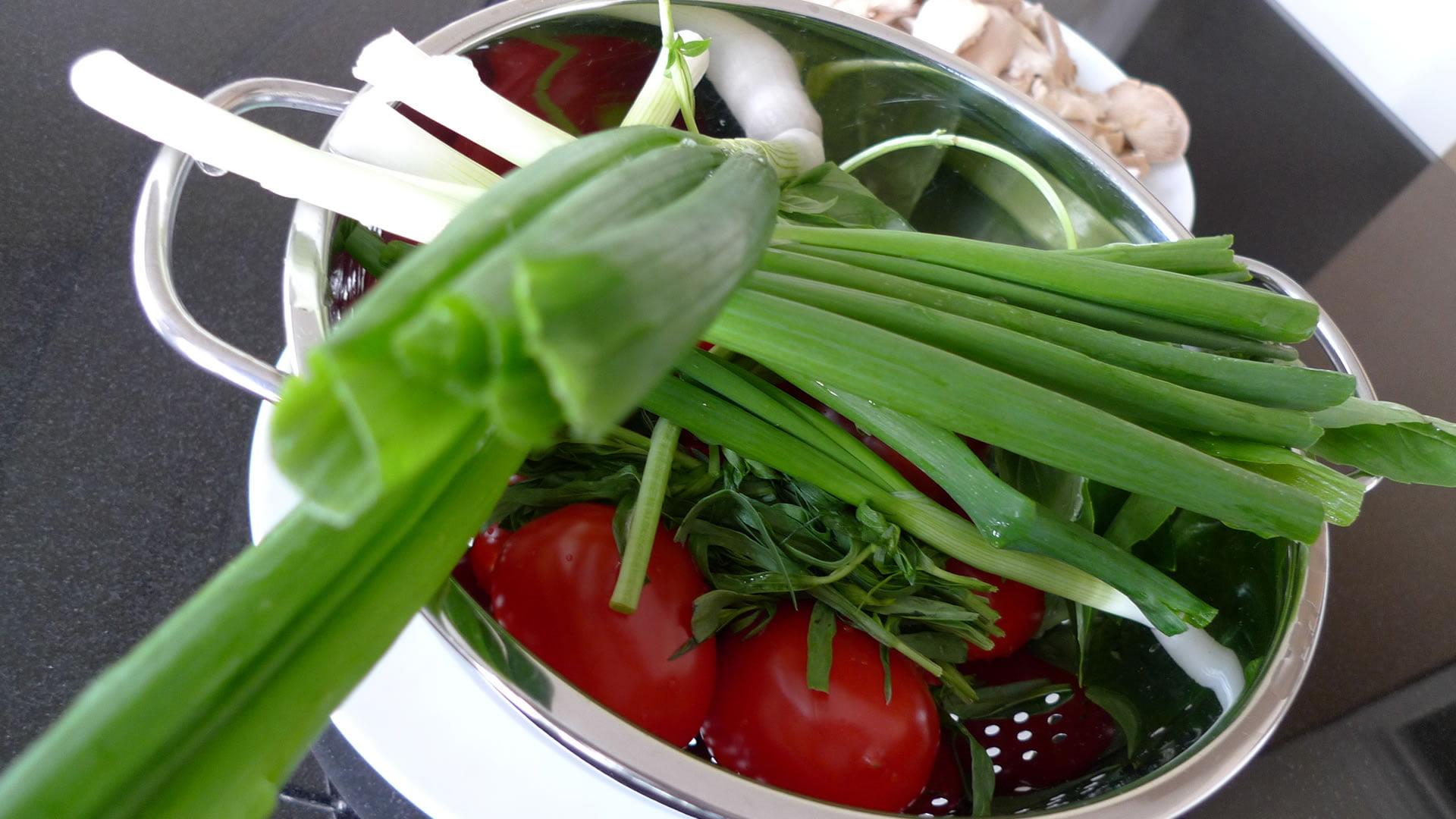 Ingredientes para preparar fasolada