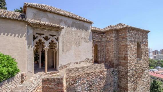Interior de la Alcazaba, Málaga, España