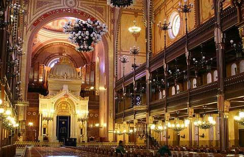 Interior de la Gran Sinagoga