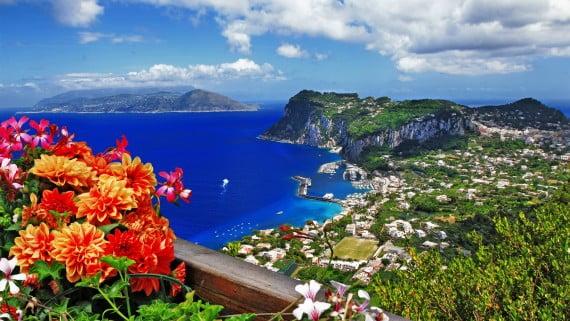 Isla de Capri, Golfo de Nápoles, Italia
