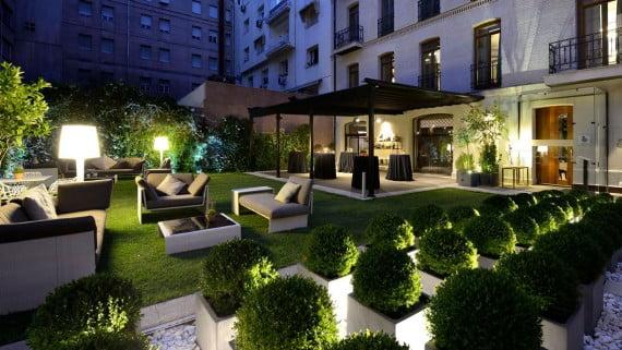 Jardín del Hotel Único, Madrid
