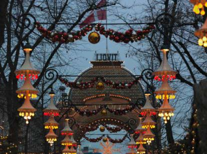 Jardines de Tivoli en Navidad
