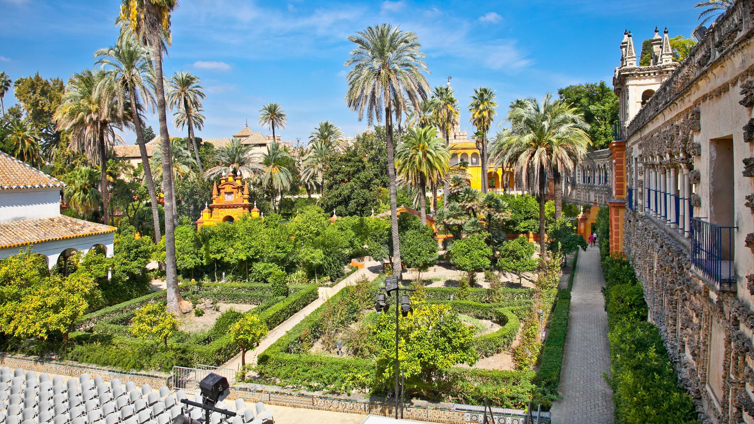 Jardines de los reales alc zares de sevilla for Jardines verticales sevilla
