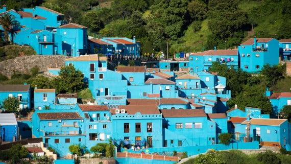 Juzcar (Málaga), conocida como el pueblo de los Pitufos