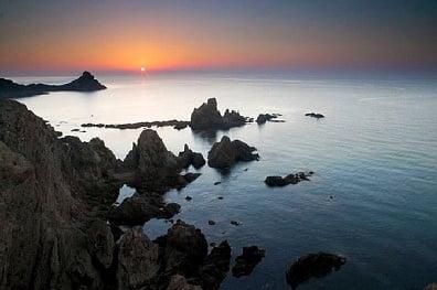 La costa de  Almeria, Cabo de Gata-Níjar