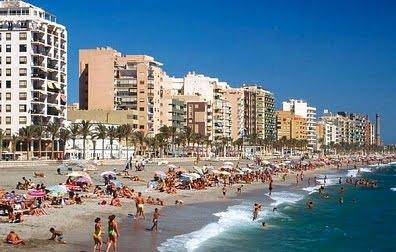 La costa de  Almeria, playa del Zapillo
