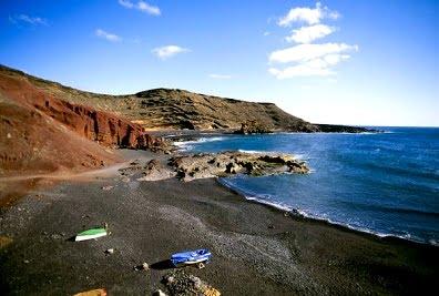 La costa de Lanzarote, el Golfo