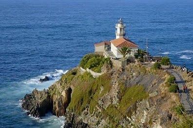 La costa en Asturias vista panorámica