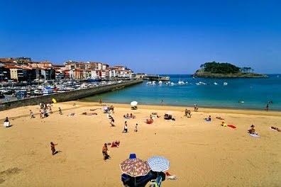 La costa vasca, España