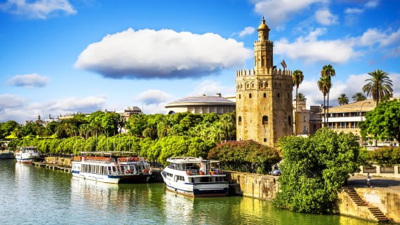 La famosa Torre del Oro de Sevilla