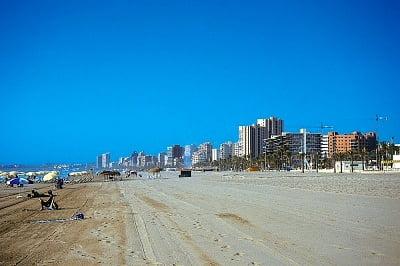La playa de San Juan en Alicante