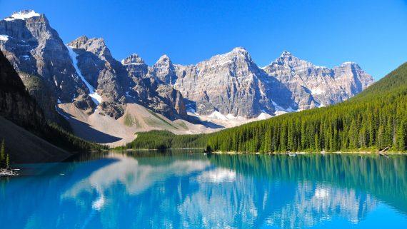 Lago Morraine, Banff National Park, Canadá