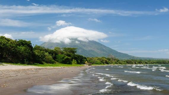Vistas del Lago Cocibolca desde la Isla Ometepe (Nicaragua)