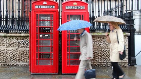 Las lluvias en Londres