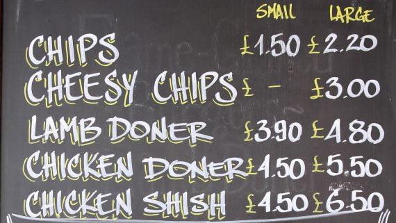 Lista de precios restaurantes de Londres