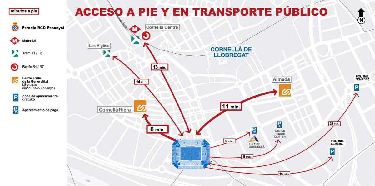 C mo llegar al estadio del espanyol for Como llegar al ministerio del interior