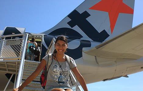 Llegar en avion