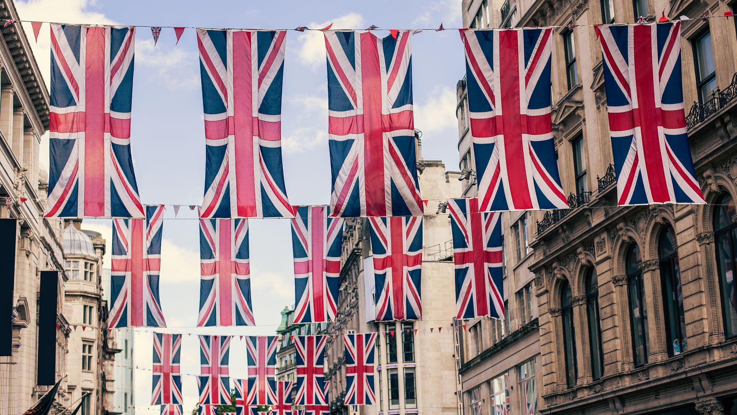 La bandera del Reino Unido