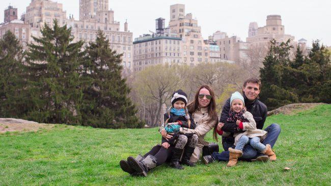 Gozar de Nova York coa familia