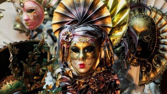 Máscaras típicas del Carnaval de Venecia