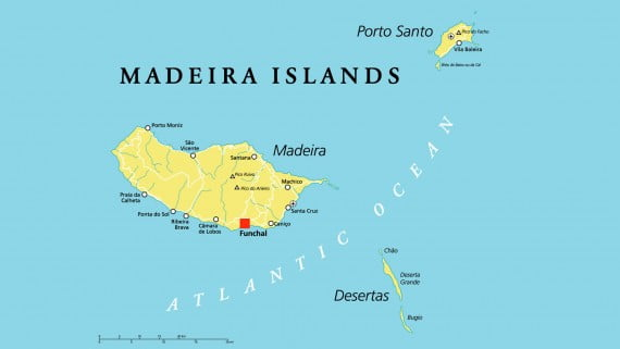Mapa de Madeira (Portugal)