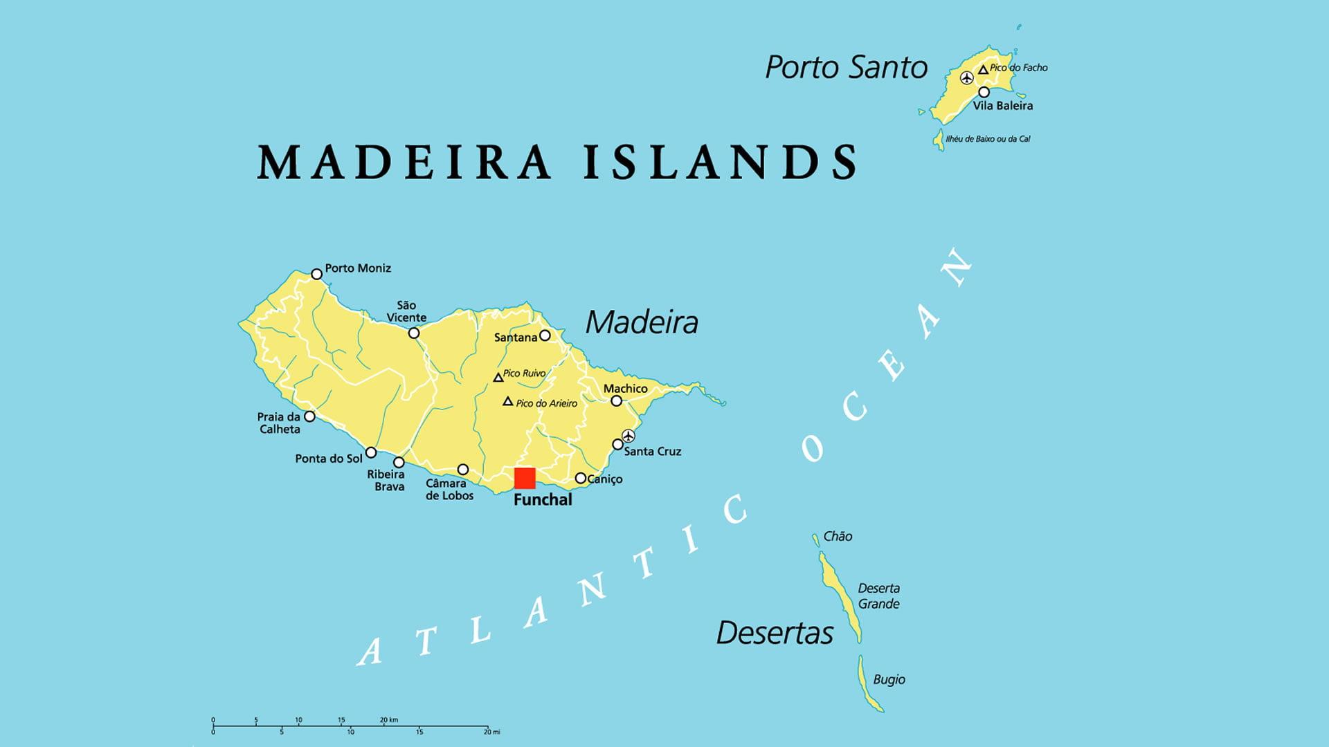 mapa de portugal e madeira Mapa de Madeira (Portugal) mapa de portugal e madeira