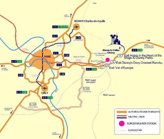 Mapa diseny paris for Como llegar de barcelona a paris