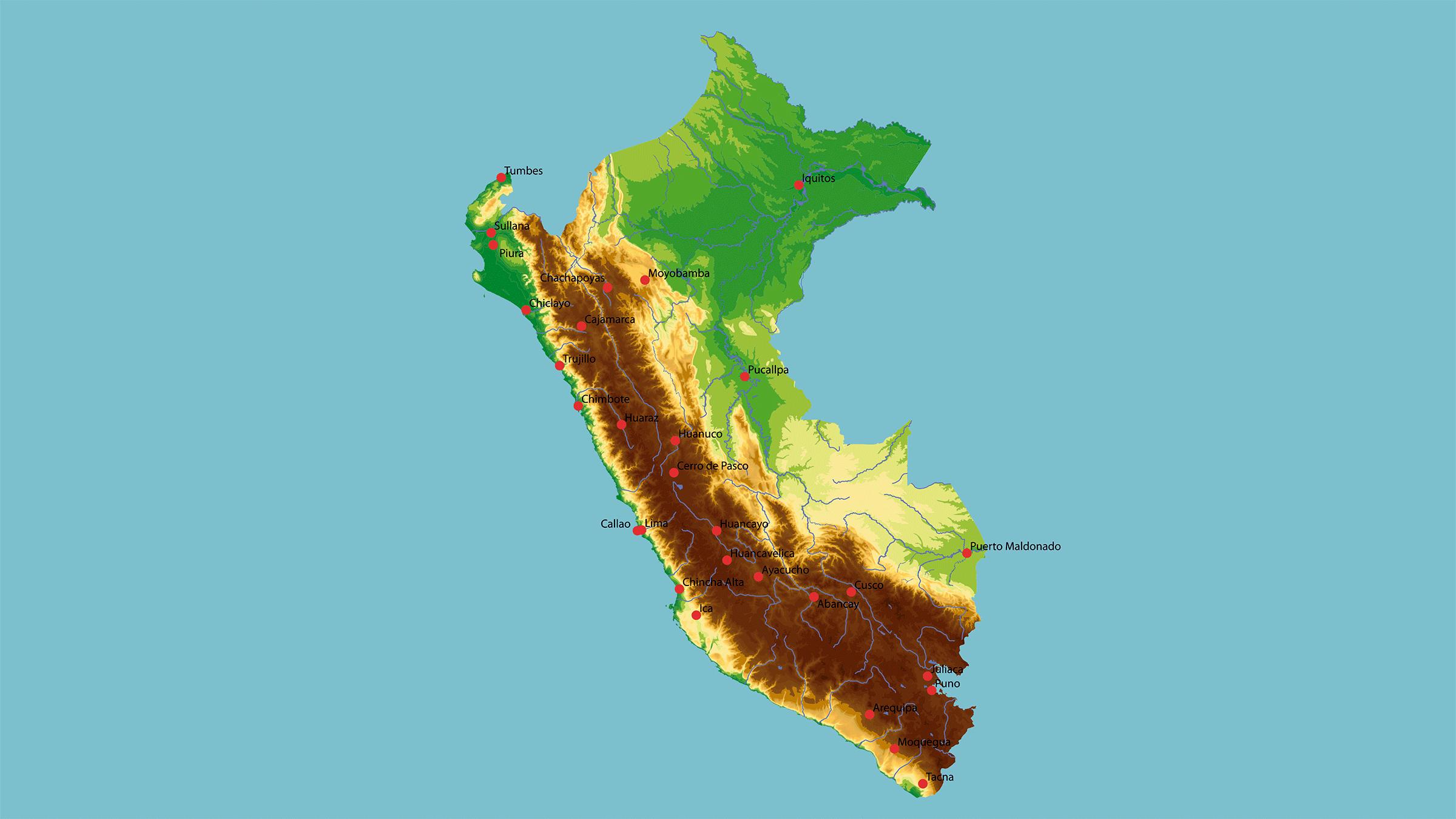 Canada Cartina Fisica.Mappa Fisica Di U Peru
