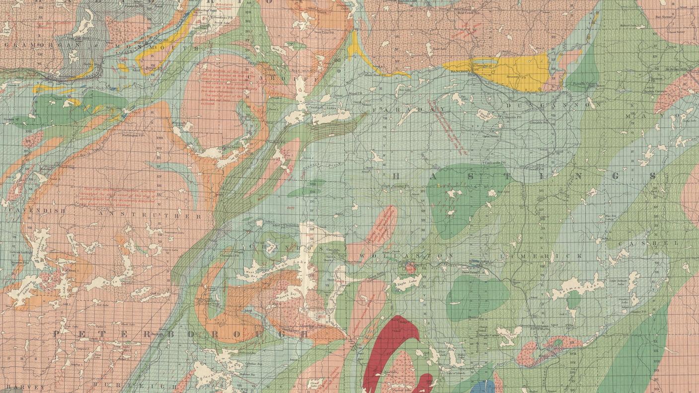 Mapa Geologico de Canada