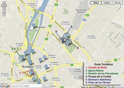 Mapa Guia Turistica Budapest