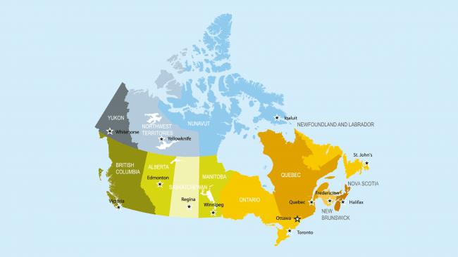 Mapa Político De Canadá - Canada mapa