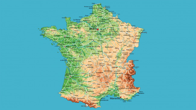 Mapa Carreteras Francia