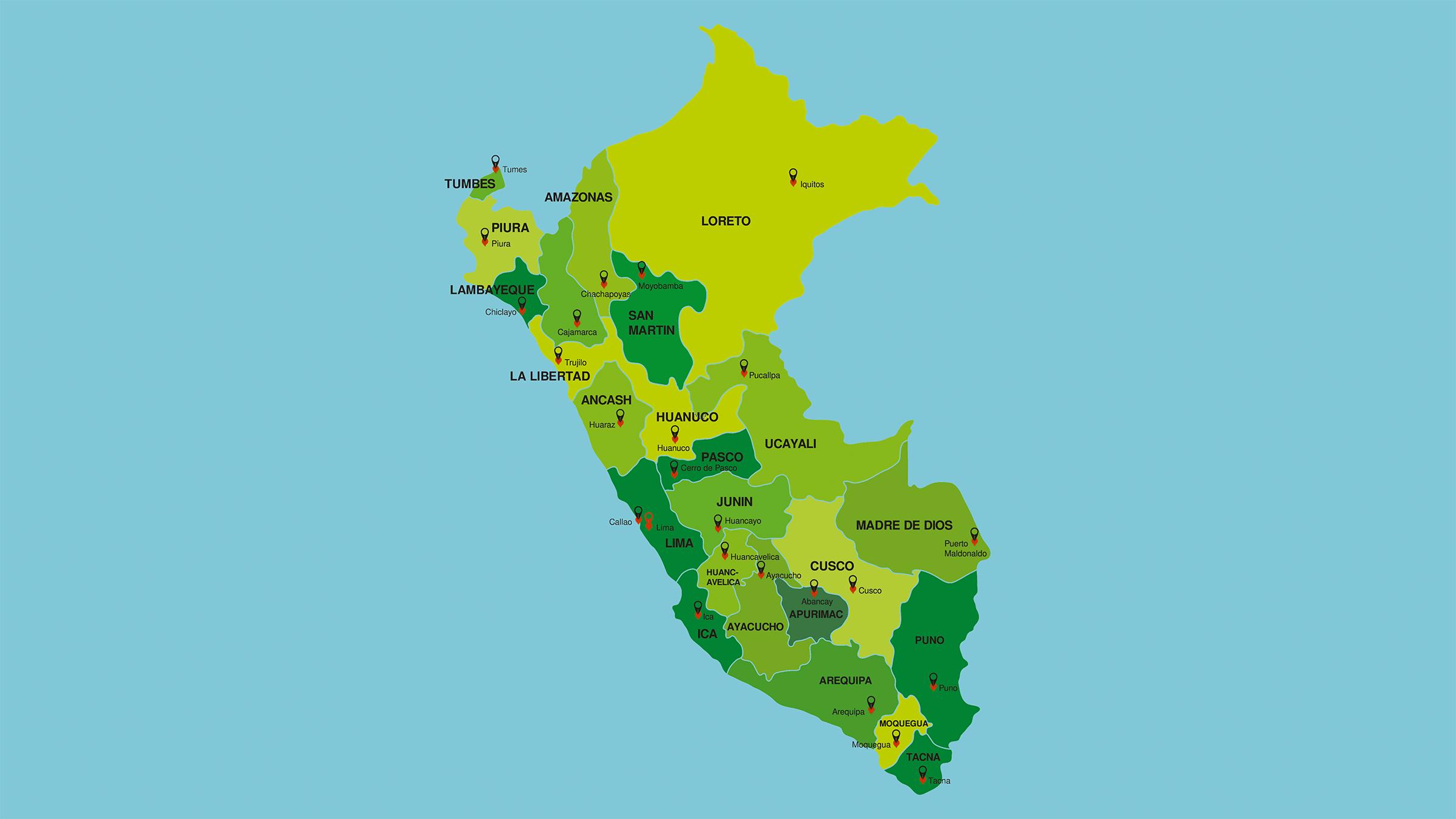 Mapa Politico Del Peru.Mapa Politico De Peru