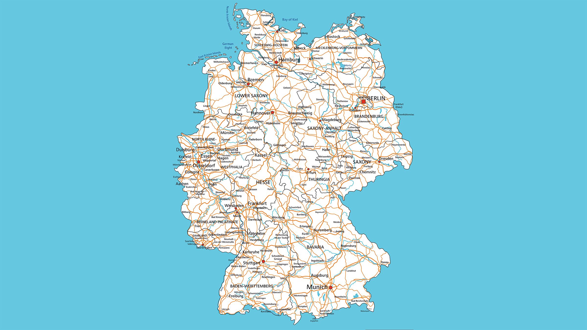 Mapa carretera de Alemania