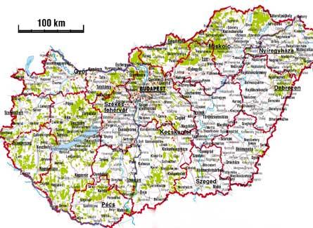 Mapa Carreteras De Hungria