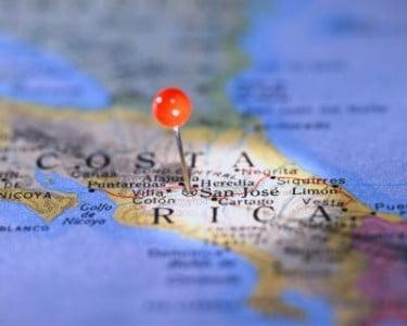 Mapa de Costa Rica  país