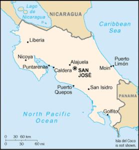 Mapa de Costa Rica  provincias